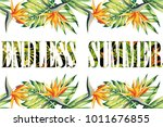slogan endless summer lettering ... | Shutterstock .eps vector #1011676855