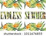 slogan endless summer lettering ... | Shutterstock .eps vector #1011676855