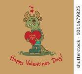 cute doodle tribal illustratoin ... | Shutterstock .eps vector #1011679825