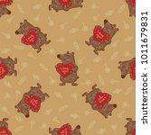 cute doodle tribal seamless... | Shutterstock .eps vector #1011679831