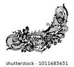 lace flowers decoration element   Shutterstock .eps vector #1011685651