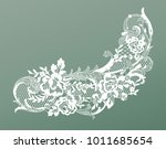 lace flowers decoration element | Shutterstock .eps vector #1011685654