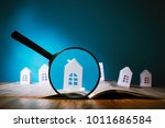 magnifying glass in front of an ... | Shutterstock . vector #1011686584