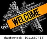 welcome word cloud in different ... | Shutterstock .eps vector #1011687415