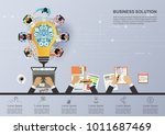 business concept for business... | Shutterstock .eps vector #1011687469