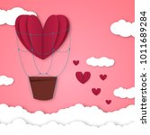paper hearts valentines day... | Shutterstock .eps vector #1011689284