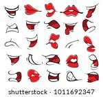 illustration of a set of mouths   Shutterstock .eps vector #1011692347
