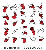 illustration of a set of mouths   Shutterstock .eps vector #1011693034