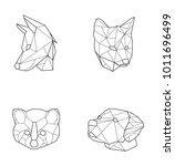 geometric animals vector | Shutterstock .eps vector #1011696499