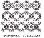 chrome ornament on a white... | Shutterstock . vector #1011696655