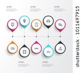 transportation icons line style ... | Shutterstock .eps vector #1011697915
