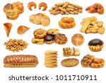 set bread baked products ... | Shutterstock . vector #1011710911