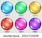 set of translucent colored... | Shutterstock .eps vector #1011714349