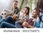 group of friends sport fans... | Shutterstock . vector #1011716371