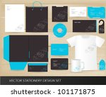 vector stationery design set | Shutterstock .eps vector #101171875