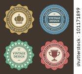 vintage labels set. vector... | Shutterstock .eps vector #101171899
