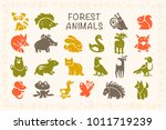 vector collection of flat cute... | Shutterstock .eps vector #1011719239