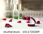 dining table in restaurant... | Shutterstock . vector #1011720289