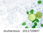 mojito ingredients  lime and...   Shutterstock . vector #1011720847