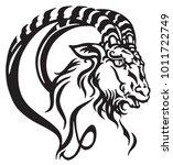 capricorn logo. head of... | Shutterstock .eps vector #1011722749