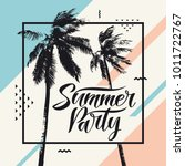 summer party  modern poster... | Shutterstock .eps vector #1011722767