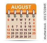 august calendar of 2018 year  ...   Shutterstock .eps vector #1011722845