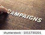hand arrange wood letters as... | Shutterstock . vector #1011730201