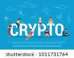 crypto technologies concept...   Shutterstock .eps vector #1011731764