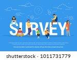 online survey concept vector... | Shutterstock .eps vector #1011731779
