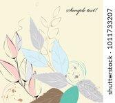 abstract vintage leaf background   Shutterstock .eps vector #1011733207