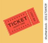 ticket icon vector illustration ... | Shutterstock .eps vector #1011734929