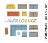 sofas  armchairs  lounges and...   Shutterstock .eps vector #1011739504