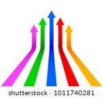 five arrow up   stock vector   Shutterstock .eps vector #1011740281