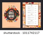 vector barbecue or grill... | Shutterstock .eps vector #1011742117