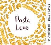 vector pasta elements... | Shutterstock .eps vector #1011742411
