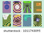 creative covers templates with... | Shutterstock .eps vector #1011743095