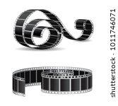 realistic filmstrip vector | Shutterstock .eps vector #1011746071