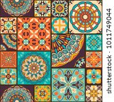 seamless colorful patchwork... | Shutterstock .eps vector #1011749044