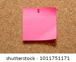 a blank pink coloured sticky... | Shutterstock . vector #1011751171