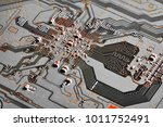 electronic circuit board close... | Shutterstock . vector #1011752491
