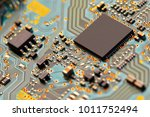 electronic circuit board close... | Shutterstock . vector #1011752494