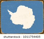 vintage metal sign   antarctica ... | Shutterstock .eps vector #1011754405