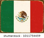vintage metal sign   mexico... | Shutterstock .eps vector #1011754459