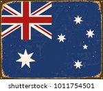 vintage metal sign   australia... | Shutterstock .eps vector #1011754501
