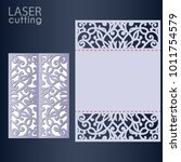 laser cut wedding invitation... | Shutterstock .eps vector #1011754579