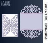 laser cut wedding invitation... | Shutterstock .eps vector #1011754585