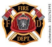 fire department cross vintage... | Shutterstock .eps vector #1011761995