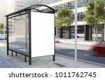 bus stop billboard on the... | Shutterstock . vector #1011762745