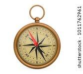 glossy bronze vintage compass... | Shutterstock . vector #1011762961