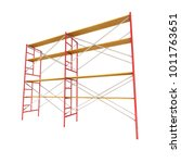 scaffolding metal construction... | Shutterstock . vector #1011763651